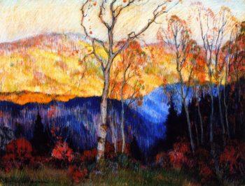 Golden Autumn Laurentians | Clarence Gagnon | oil painting