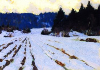 Furrows on the Snow | Clarence Gagnon | oil painting
