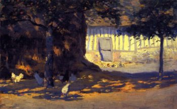 Farmyard France | Clarence Gagnon | oil painting
