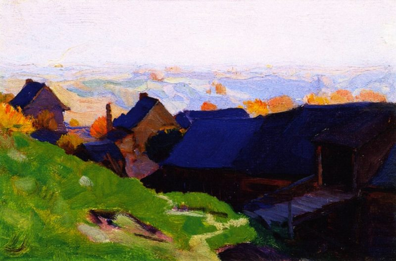Farmstead Baie Saint Paul | Clarence Gagnon | oil painting