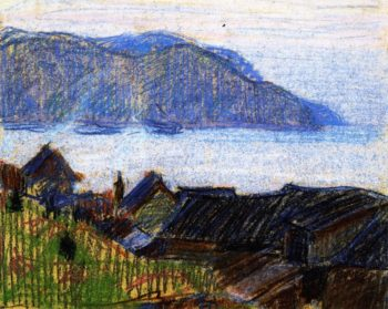 Evening on the North Shore   Clarence Gagnon   oil painting