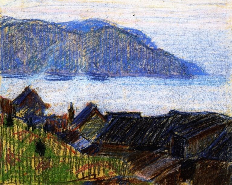 Evening on the North Shore | Clarence Gagnon | oil painting