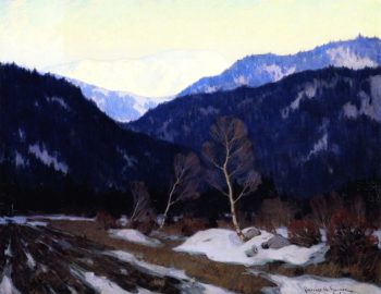 Early Spring Morning in the Laurentian Wilds | Clarence Gagnon | oil painting