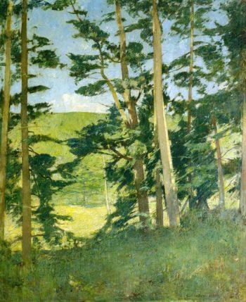 A Cleaaring beyond the Trees | Emil Carlsen | oil painting