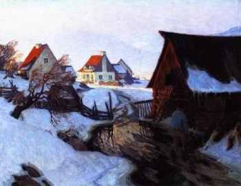 Early Morning on March | Clarence Gagnon | oil painting
