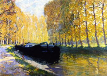 Canal du Loing | Clarence Gagnon | oil painting
