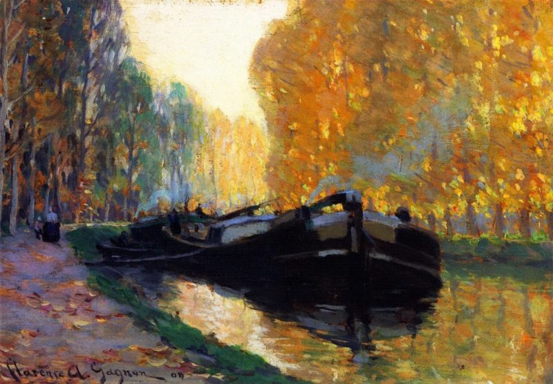 Canal Boat | Clarence Gagnon | oil painting