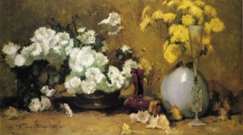 Chrysanthemums | Emil Carlsen | oil painting