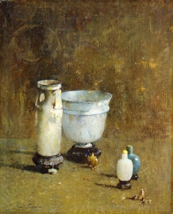 Jade and Ancient Glass | Emil Carlsen | oil painting