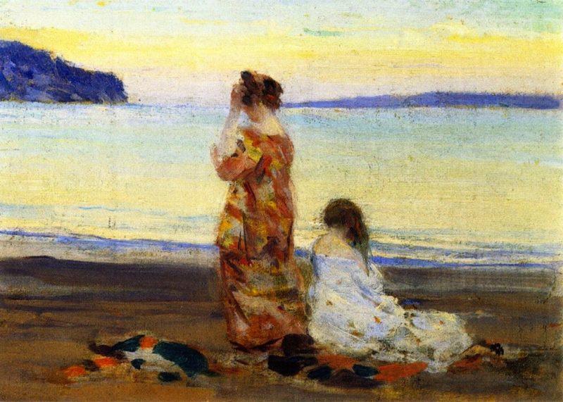 Beach Scene Baie Saint Paul | Clarence Gagnon | oil painting