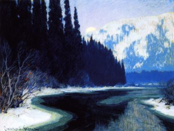 A Silent Stream of the North | Clarence Gagnon | oil painting