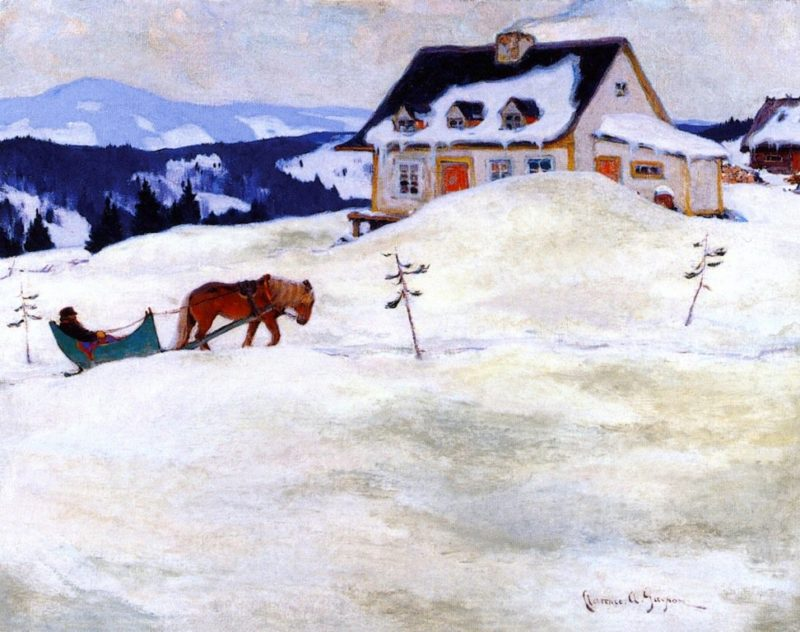 A Laurentian Homestead | Clarence Gagnon | oil painting