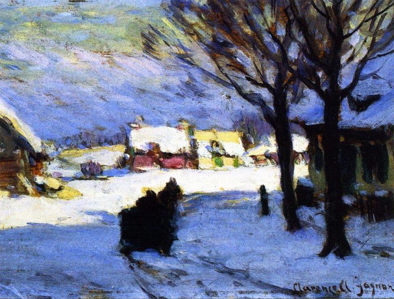 Afternoon Sun Baie Saint Paul | Clarence Gagnon | oil painting