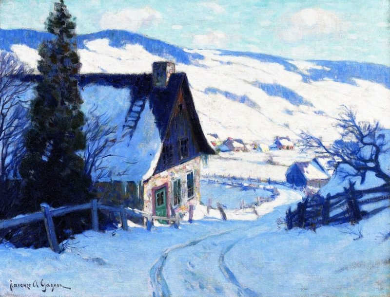 A Farm Last Rauys | Clarence Gagnon | oil painting