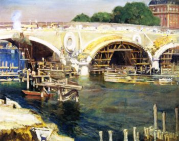 The Bridge Builders | Alson Skinner Clark | oil painting