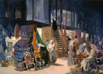 Allen Street   George Benjamin Luks   oil painting