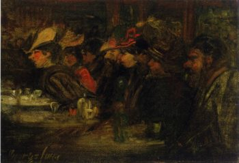 At the Cafe | George Benjamin Luks | oil painting