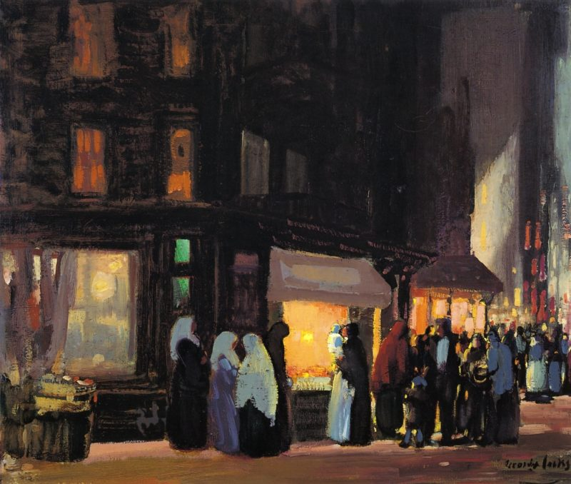 Bleeker and Carmine Streets | George Benjamin Luks | oil painting