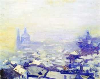 Snow over Prague | Alson Skinner Clark | oil painting
