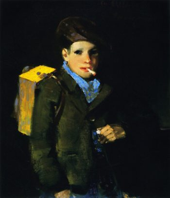 Boy with Dice | George Benjamin Luks | oil painting