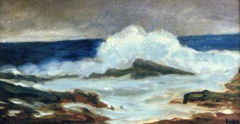 Breaking Surf   George Benjamin Luks   oil painting