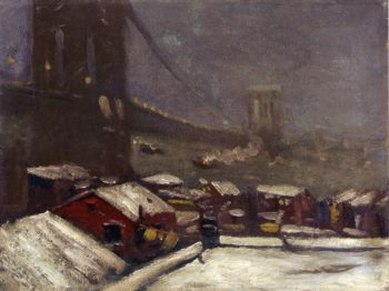 Brooklyn Bridge   George Benjamin Luks   oil painting
