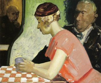 Cafe Scene a Study of a Young Woman | George Benjamin Luks | oil painting