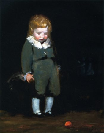 Child in Grey   George Benjamin Luks   oil painting