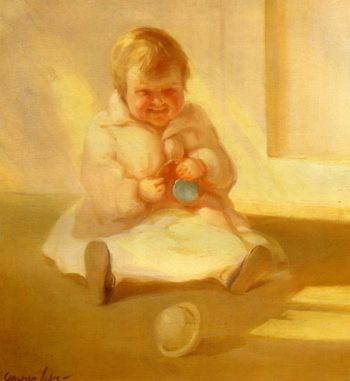 Child with a Toy   George Benjamin Luks   oil painting