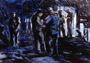 Coal Miners   George Benjamin Luks   oil painting