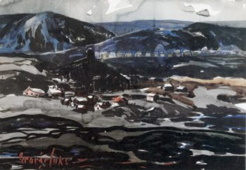 Coal Mining Town   George Benjamin Luks   oil painting