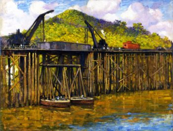 Big Cranes at Miraflores | Alson Skinner Clark | oil painting
