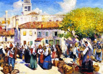 Bazaar Spalato | Alson Skinner Clark | oil painting