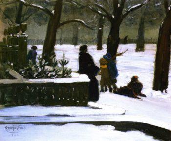 Commonwealth Ave Boston | George Benjamin Luks | oil painting