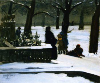 Commonwealth Avenue Boston   George Benjamin Luks   oil painting