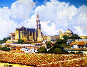After the Shower Cuernavaca | Alson Skinner Clark | oil painting