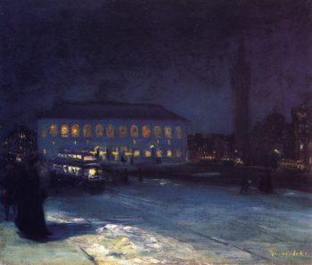 Copley Square   George Benjamin Luks   oil painting