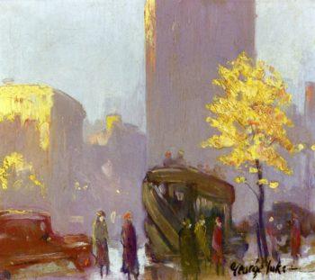 Fifth Avenue New York   George Benjamin Luks   oil painting