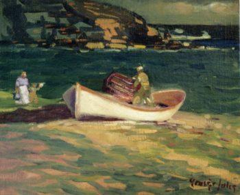 Fisherman Cape Elizabeth Maine   George Benjamin Luks   oil painting