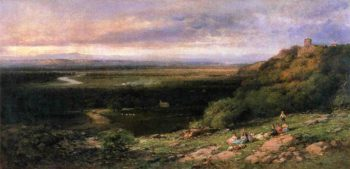 Valley of the Hackensack from the Estate of L Becker Esq Union City New Jersey | Andrew W Melrose | oil painting