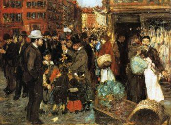 Hester Street | George Benjamin Luks | oil painting