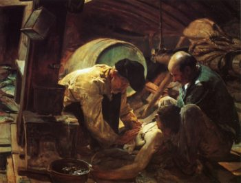 Yet They Say Fish is Expensive   Joaquin Sorolla y Bastida   oil painting