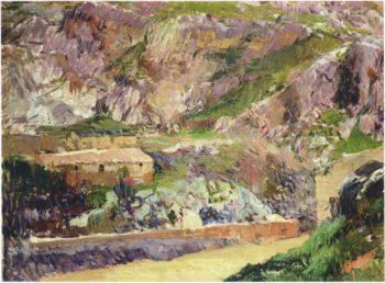 Windmills on the Tagus Toledo   Joaquin Sorolla y Bastida   oil painting
