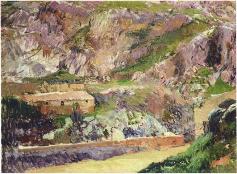 Windmills on the Tagus Toledo | Joaquin Sorolla y Bastida | oil painting