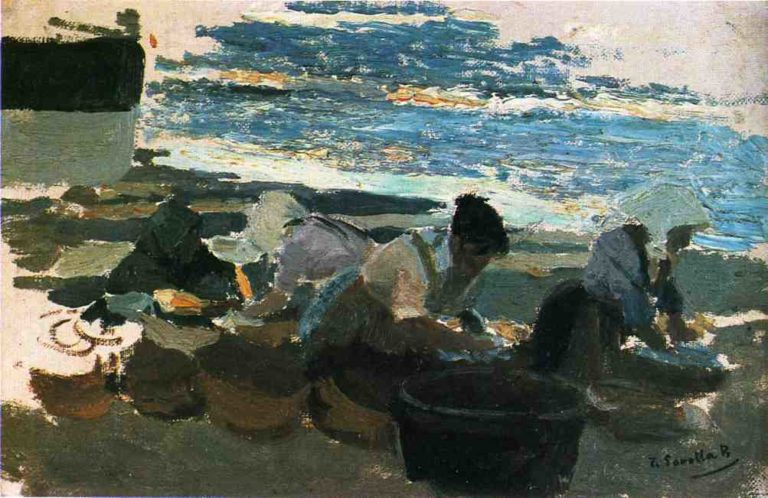 Washerwomen | Joaquin Sorolla y Bastida | oil painting