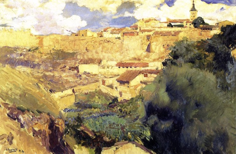 Walls of Segovia | Joaquin Sorolla y Bastida | oil painting