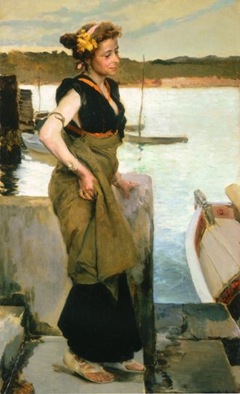 Waiting | Joaquin Sorolla y Bastida | oil painting