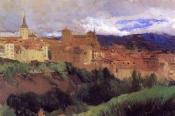 View of Segovia | Joaquin Sorolla y Bastida | oil painting