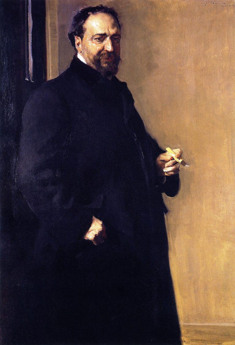 Vicente Blasco Ibanez | Joaquin Sorolla y Bastida | oil painting