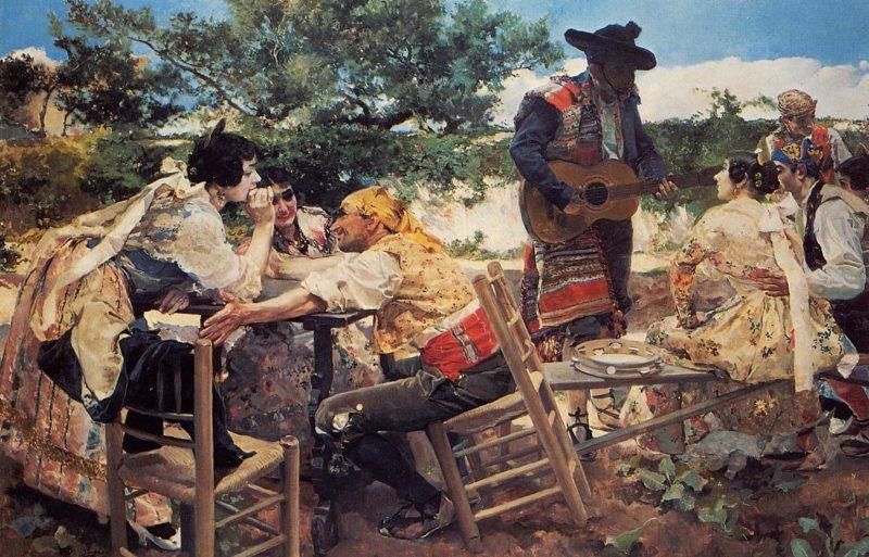 Valencian Scene   Joaquin Sorolla y Bastida   oil painting